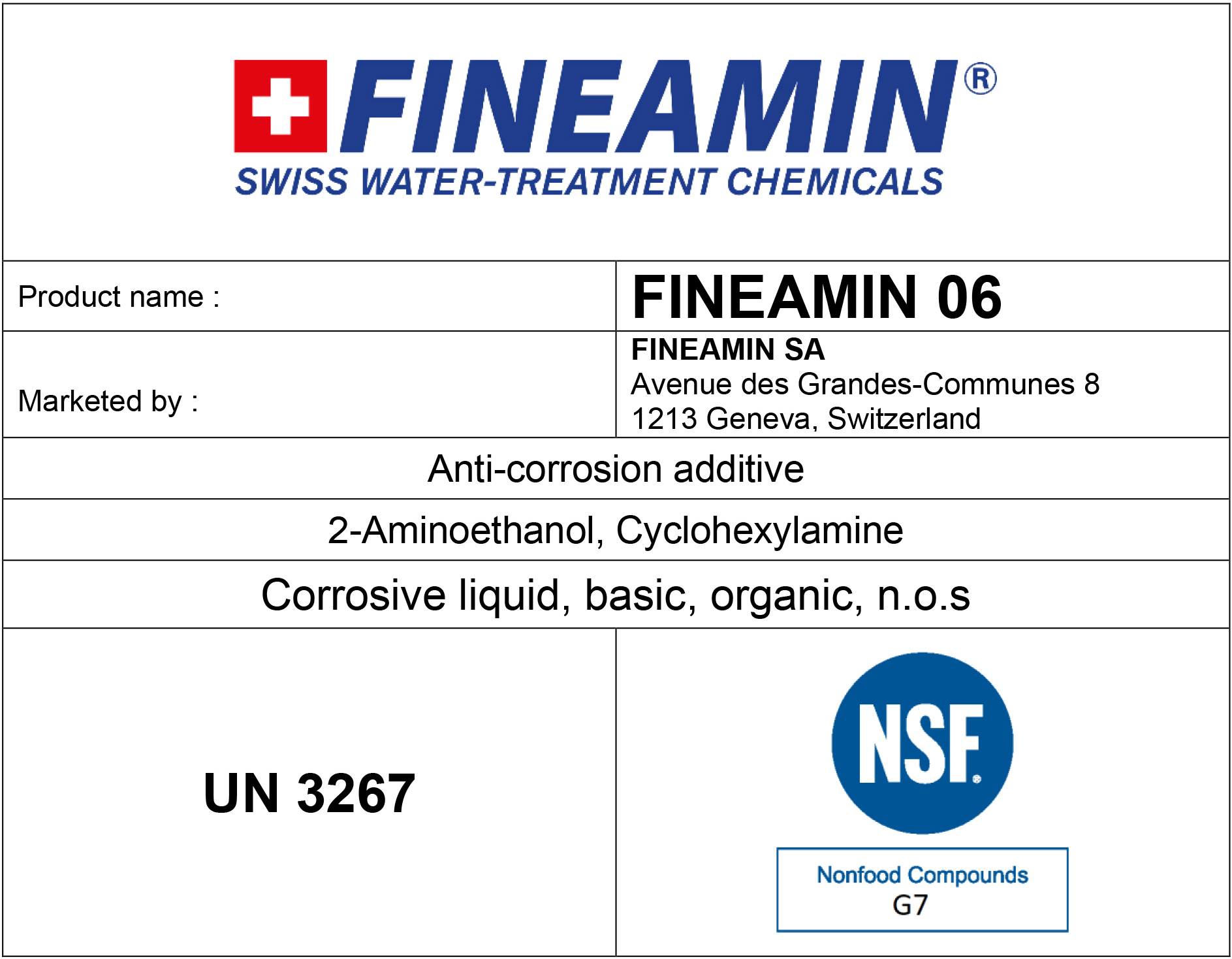 Film forming amines treatment