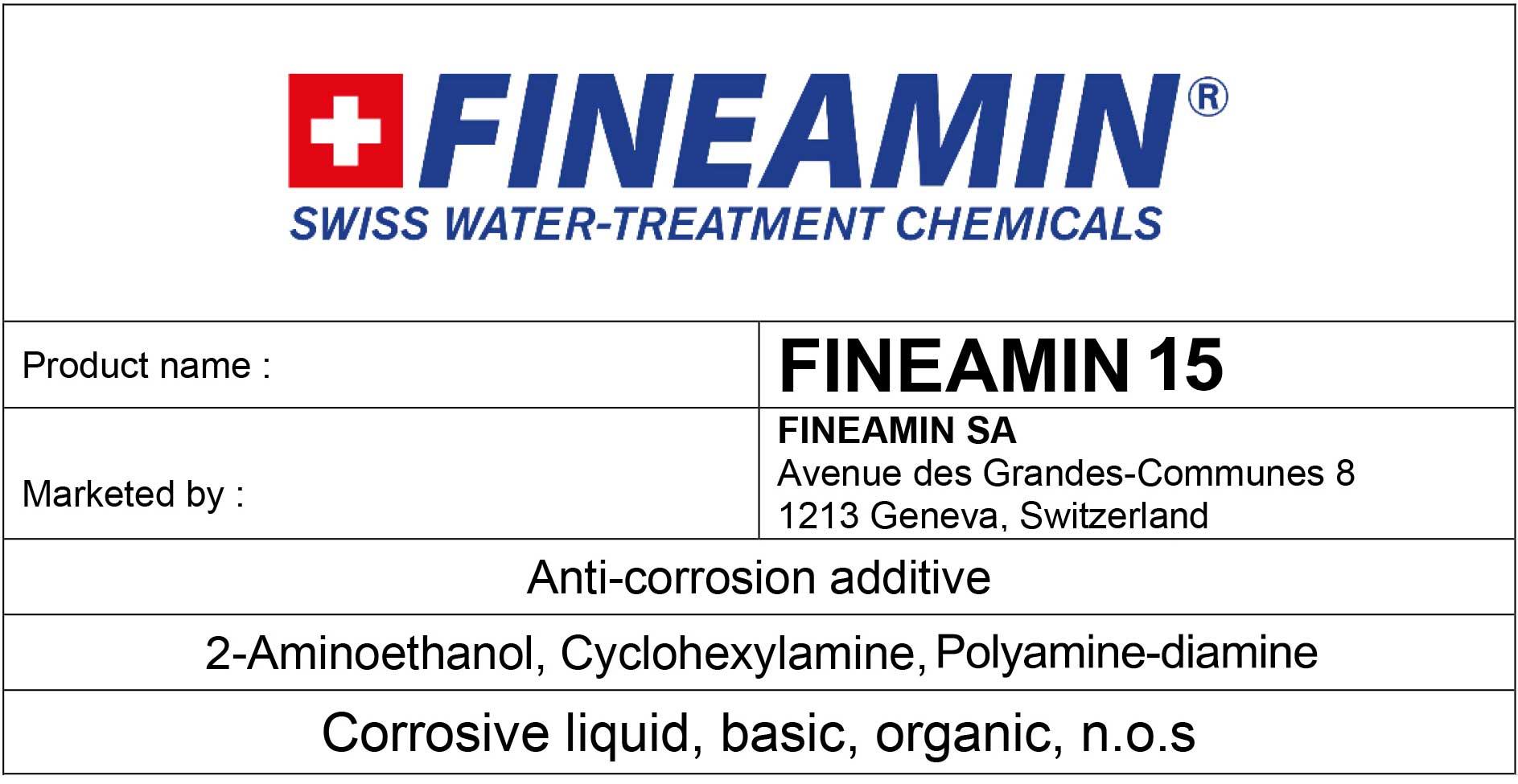 FINEAMIN 15 alkaline boiler cleaning